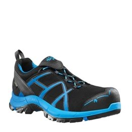 HAIX Herren Sicherheitsschuhe Black Eagle Safety 40 Low black/blue blau, UK 9.5 / EU 44 - 1