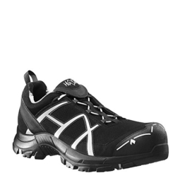 HAIX Herren Sicherheitsschuhe Black Eagle Safety 41 Low black/silver silber, UK 9.5 / EU 44 - 1